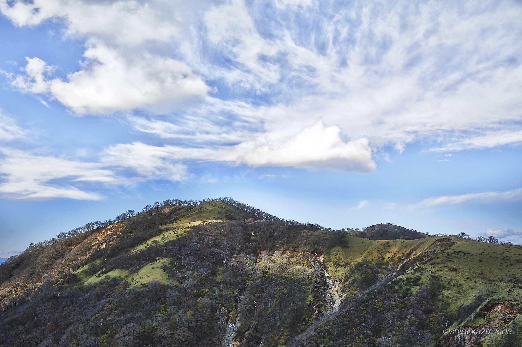 丹沢山の稜線