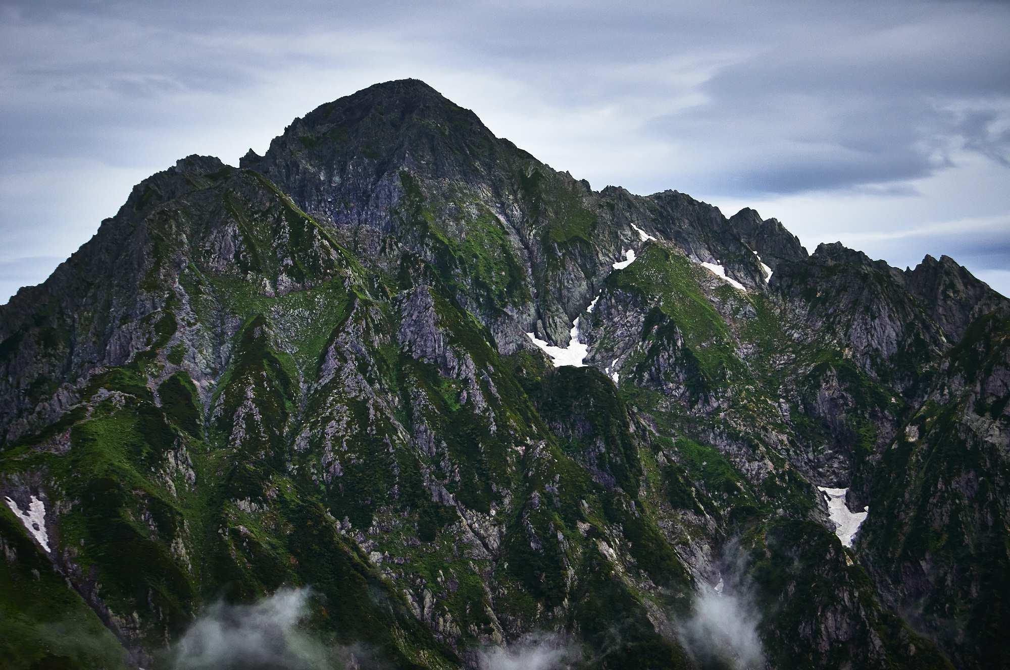北アルプスの剱岳