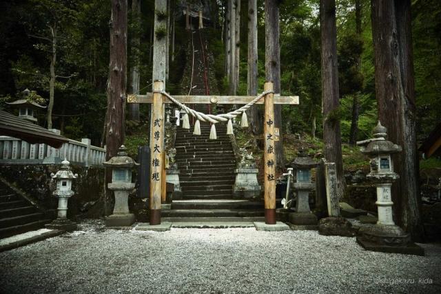 妙義山の中之岳神社の鳥居