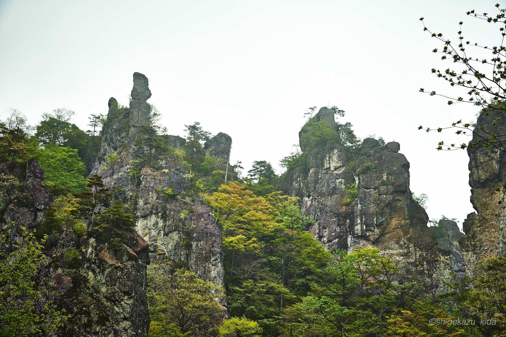 妙義山の岩峰