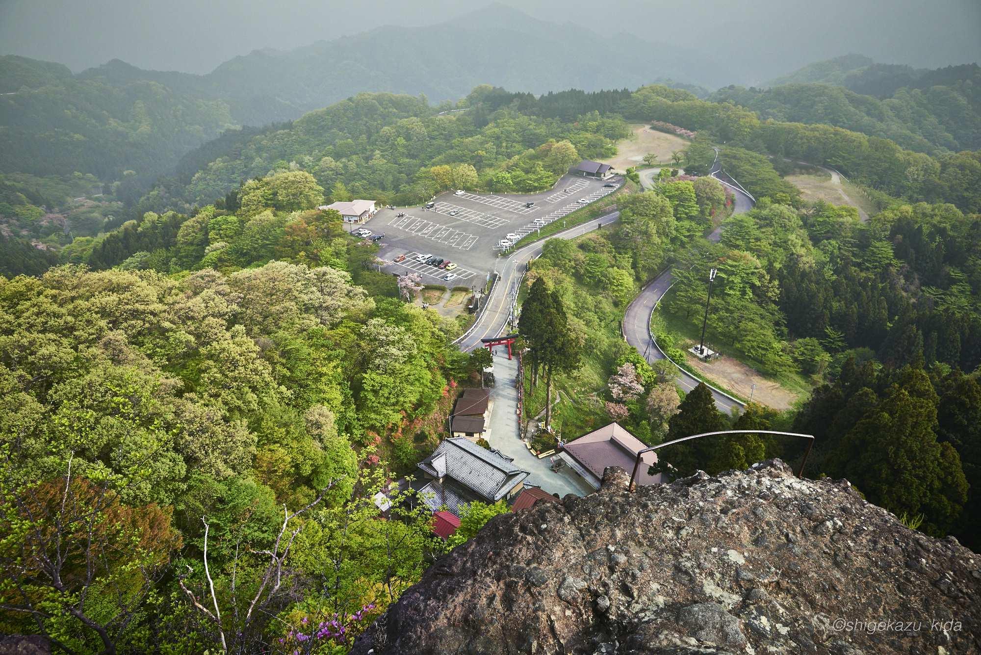 妙義山の轟岩からの景色
