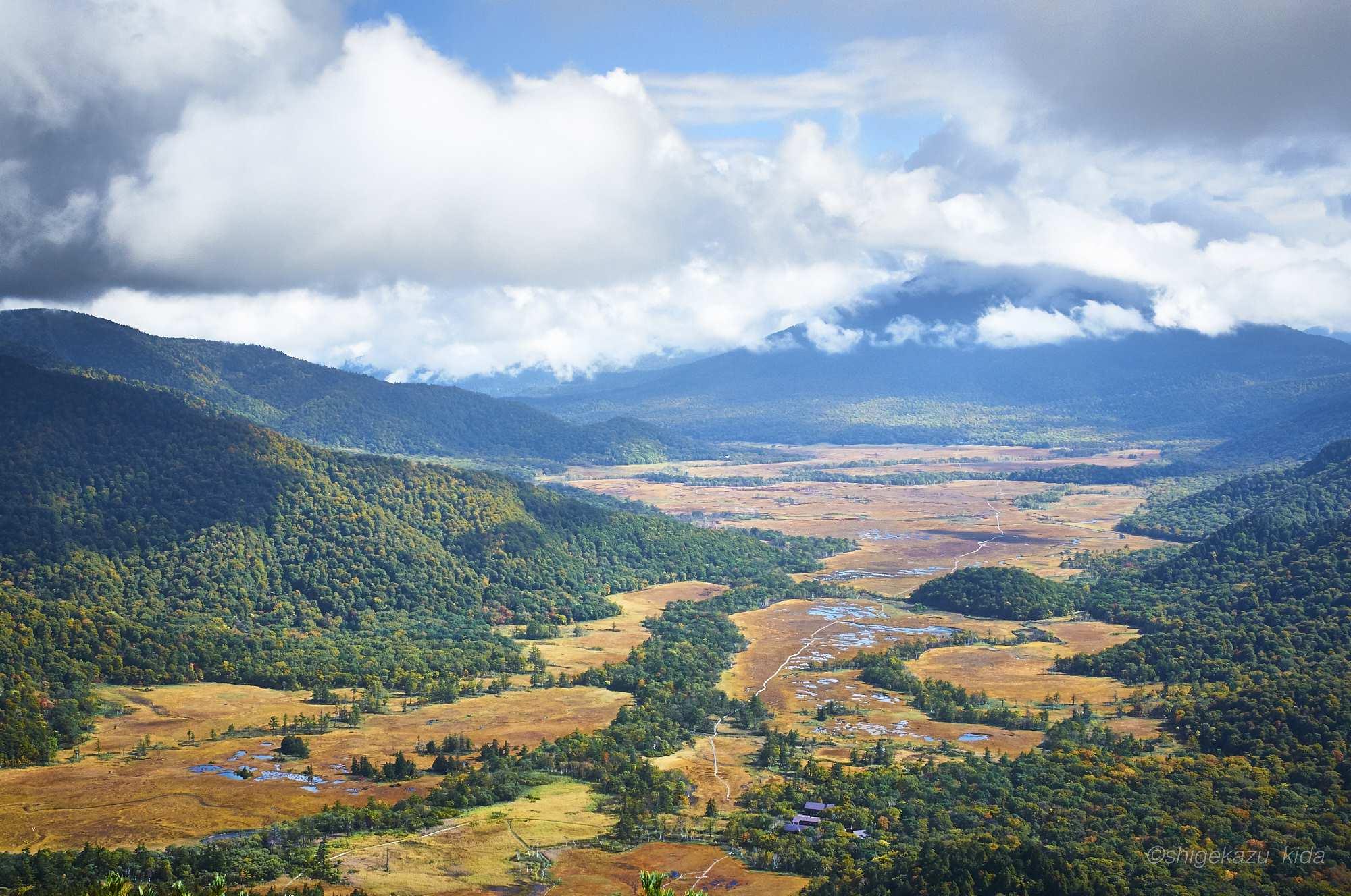 至仏山からの尾瀬ヶ原の風景