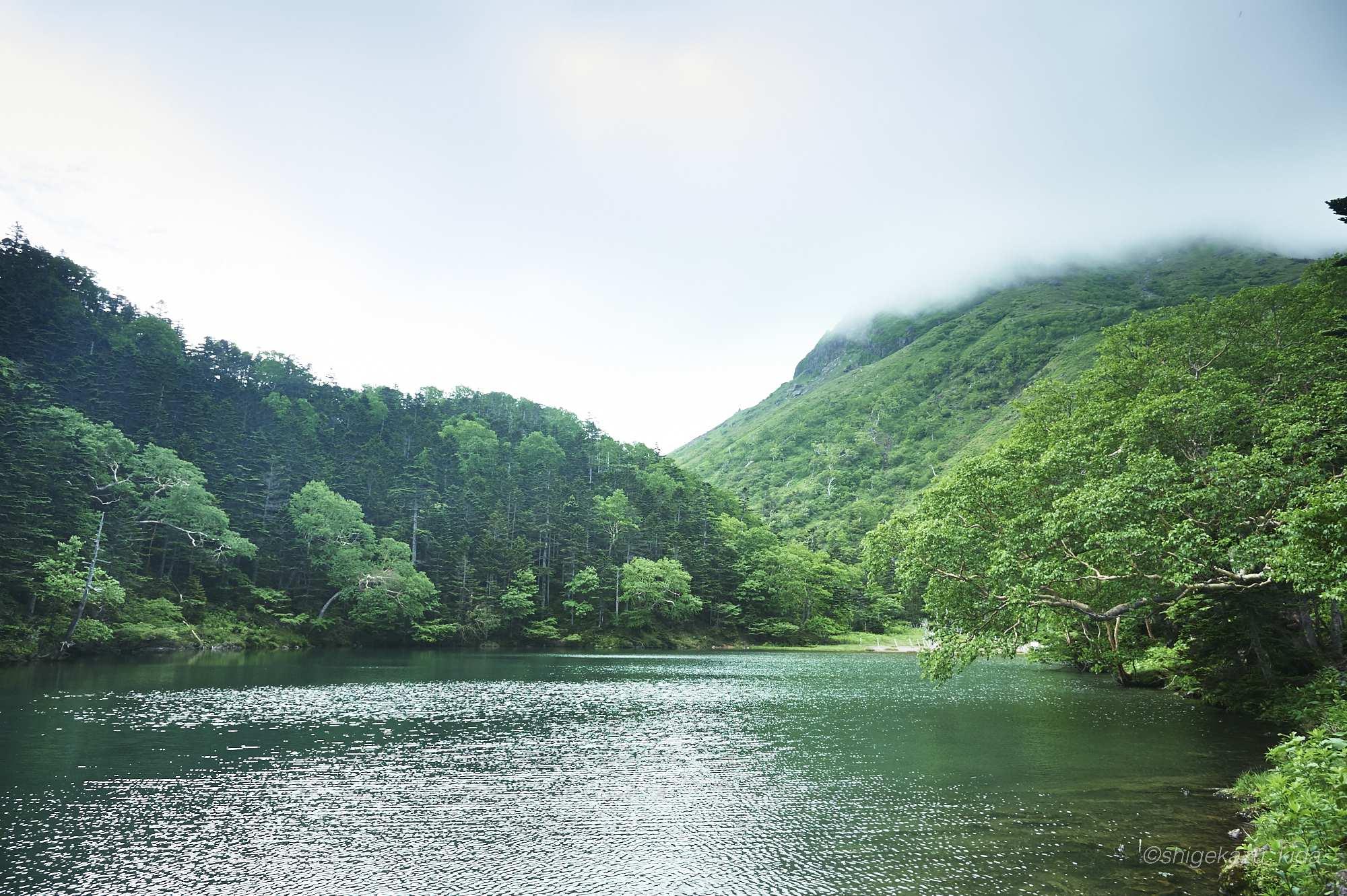 日光白根山の阿弥陀ヶ池