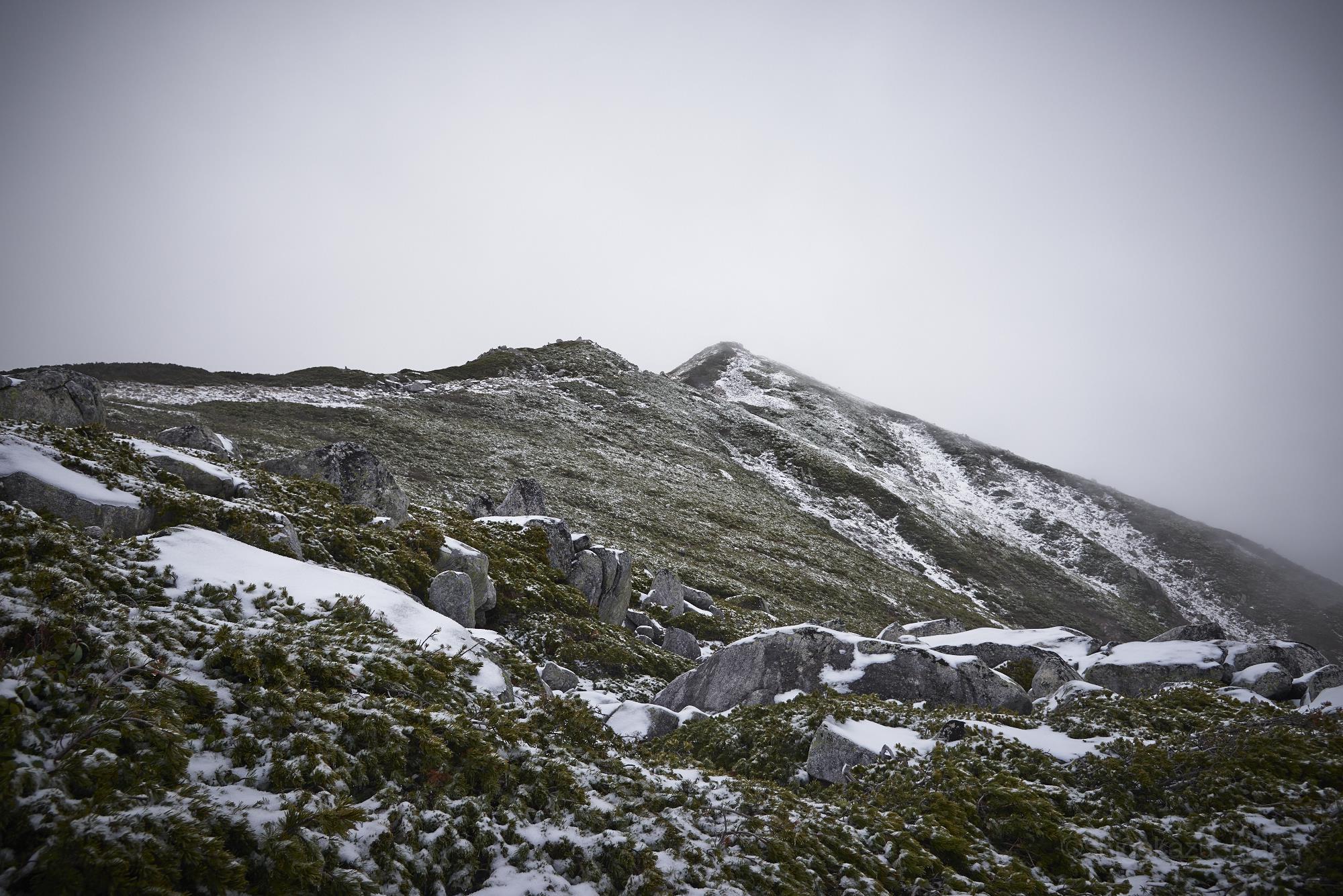 雪の木曽駒ヶ岳