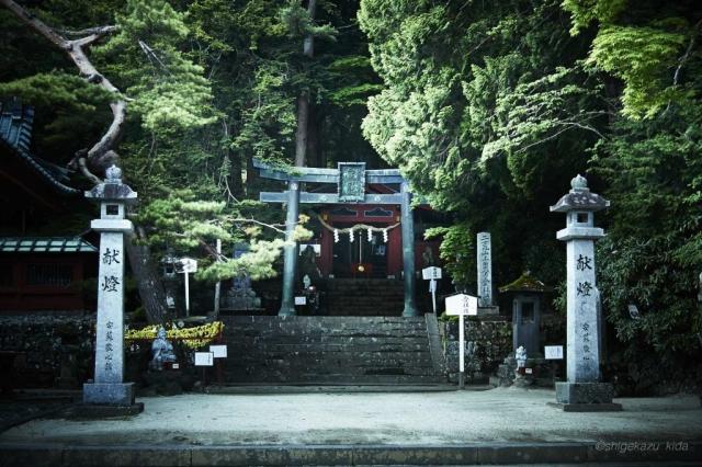二荒山神社中宮、男体山登山口の鳥居