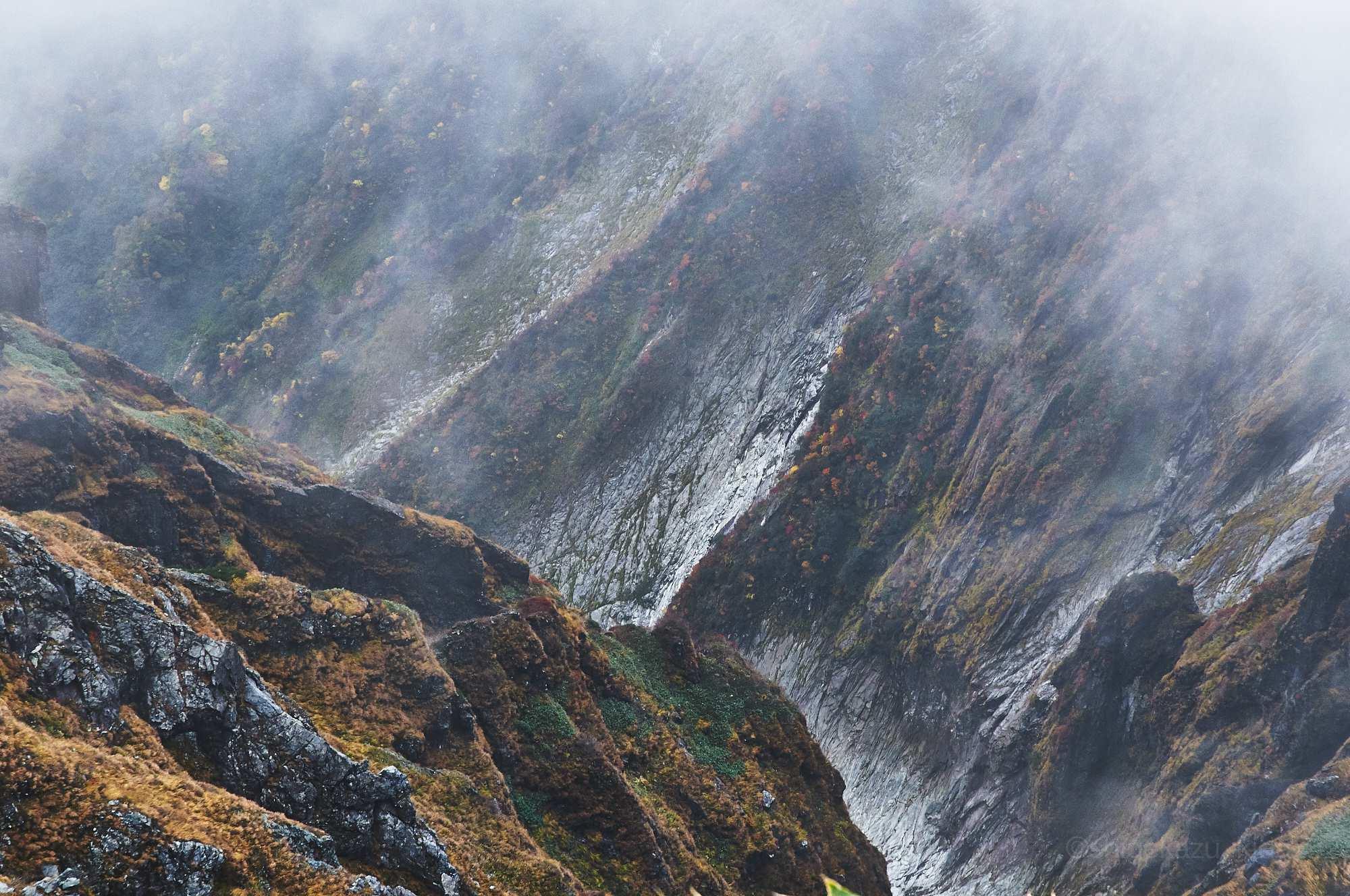 谷川岳から見下ろす谷の風景