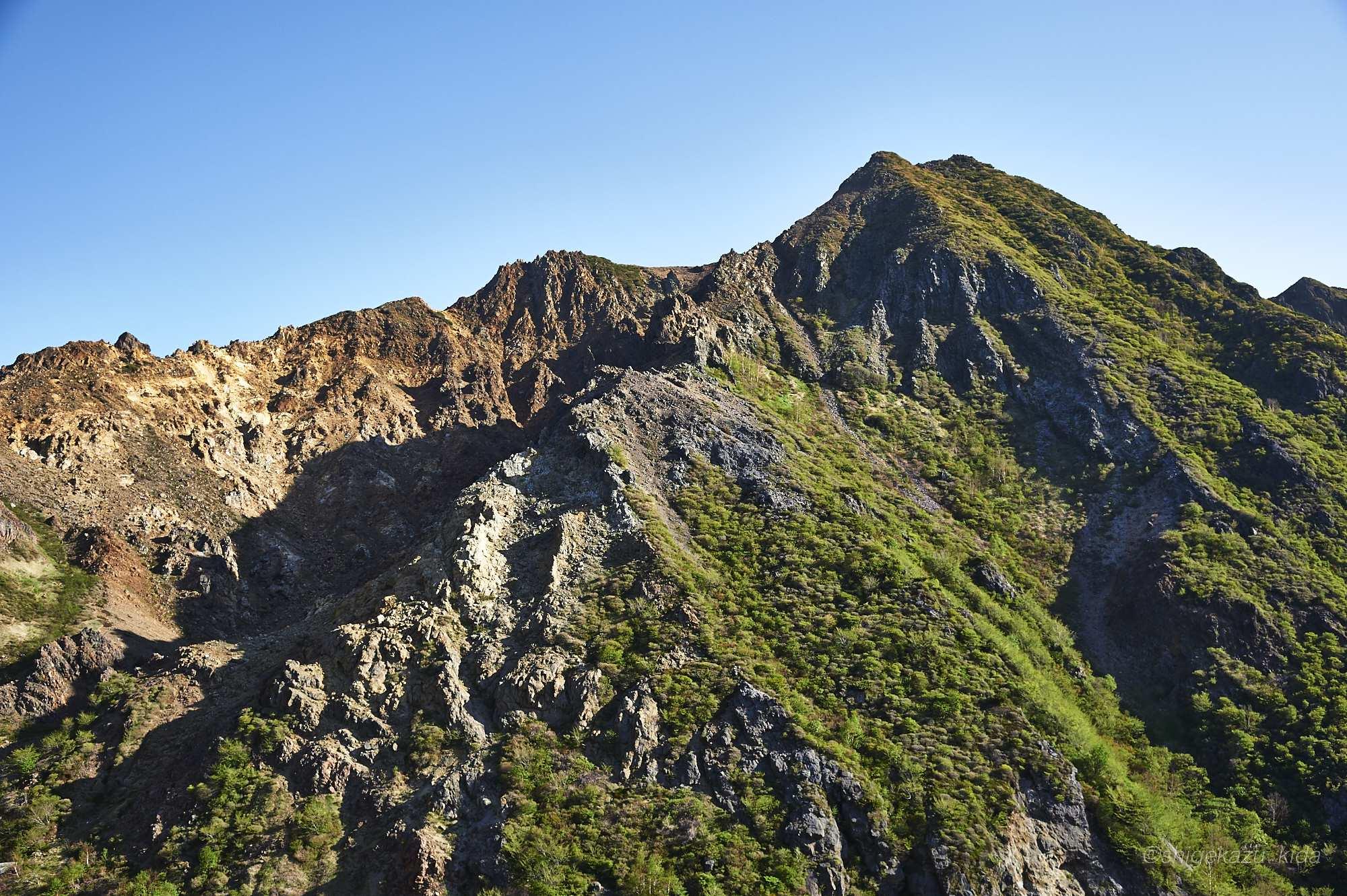 那須岳の朝日岳方面