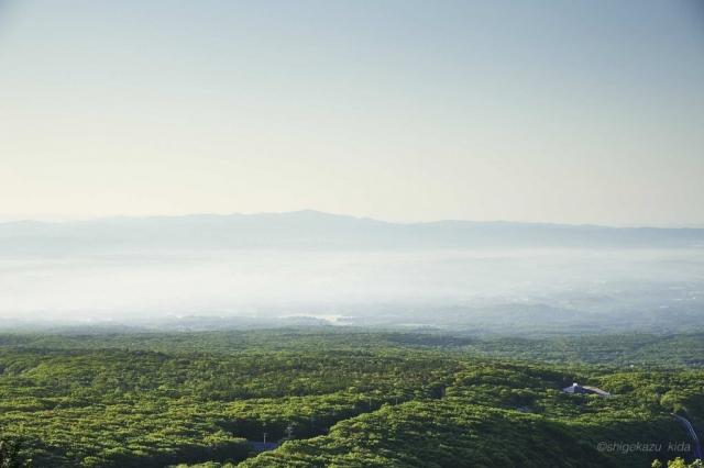 那須岳からの森の景色