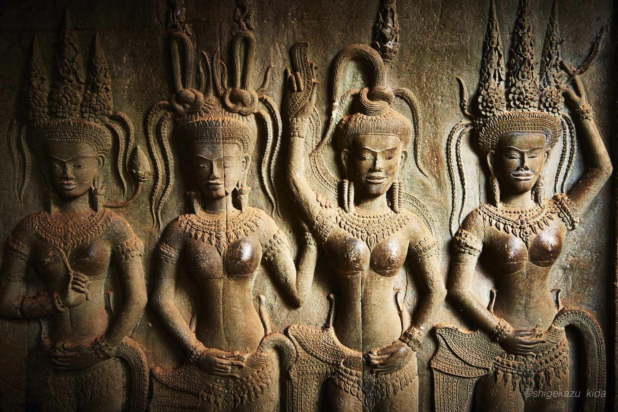 Angkor(アンコール)遺跡群にあるAngkorWat(アンコール・ワット)のデヴァータ