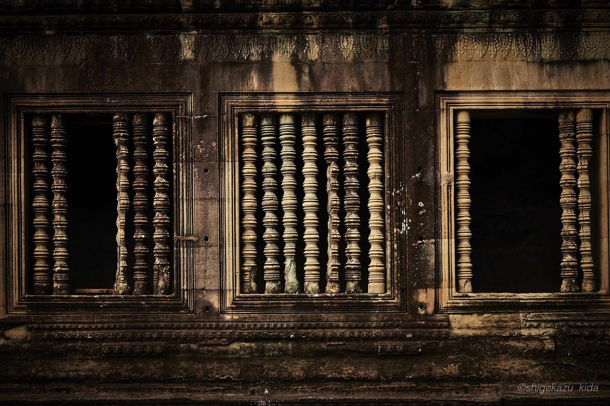 Angkor(アンコール)遺跡群にあるAngkorWat(アンコール・ワット)の連子窓