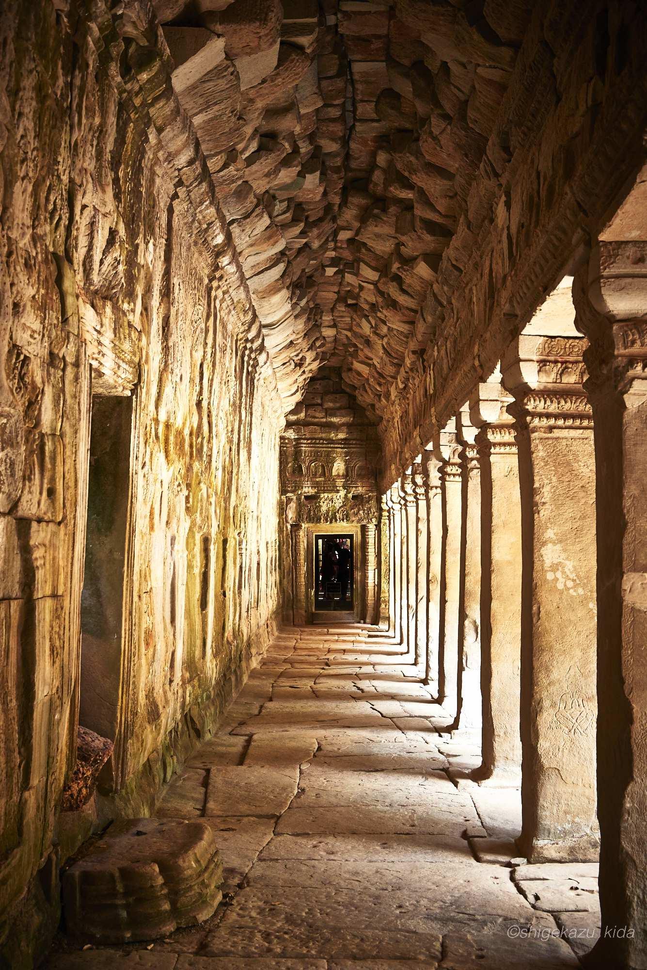 Angkor(アンコール)遺跡群にあるTaProhm(タ・プローム)の回廊