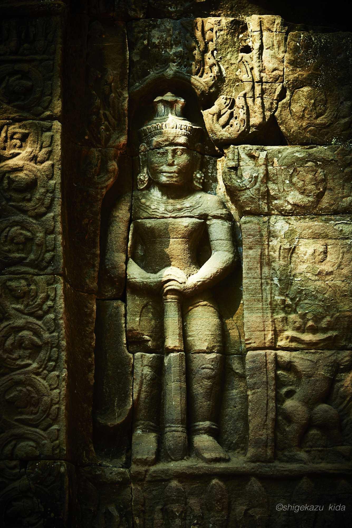 Angkor(アンコール)遺跡群にあるTaSom(タ・ソム)のレリーフ